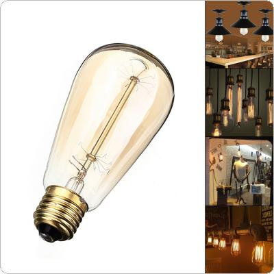 60W 110V / 220V E27 Incandescent Bulb Warm White Light Retro Edison Style Filament Lamp Bulb