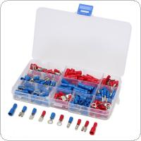 200pcs Assorted Insulated Electrical Wire Terminals Crimp Connector Spade Set