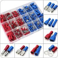 360pcs Insulated Terminals Crimp Connector Butt Spade Ring Fork Set