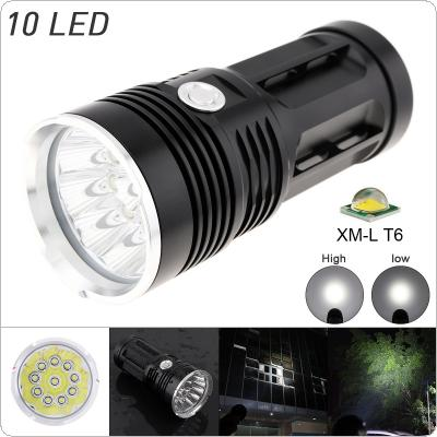 Waterproof Super Bright 3000LM 10 x XML-T6 LED Flash Light Torch Lamp with 3 Modes for  Hunting / Fishing