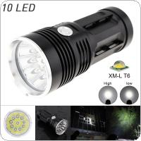 Waterproof Super Bright 3000LM 10 x XML-T6 LEDFlash Light Torch Lamp with 3 Modes for  Hunting / Fishing