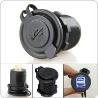 Dual USB Motorcycle Cigarette Lighter Power Charger Adapter Socket