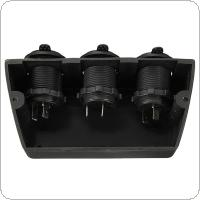 Three Marine Cigarette Lighter Splitter Power Adaptor Sockets
