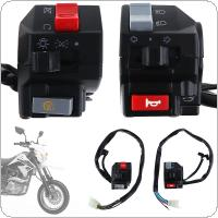 2pcs Universal 7/8inch Motorcycle Handlebar Horn Turn Signal Light Controller Switch