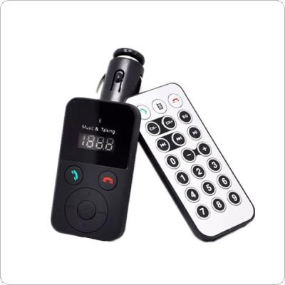 Multifunctional Bluetooth Car Kit Handsfree FM Transmitter Player Support USB / SD Input with Remote Control
