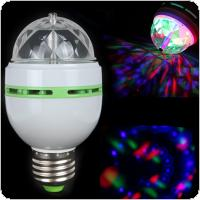 E27 RGB Effect 3X LED Rotating Stage Crystal Ball LED Light Lamp for Disco / DJ / Party