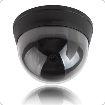 Small Dummy Simulated Dome security Camera with Red Activity LED Light