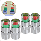 4 x 2.4 Bar Tyre Pressure Air Alert Tire Valve Stem Caps for Auto Car