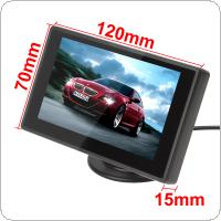 4.3 Inch Color TFT Car Monitor Support 480 x 272 Resolution + Car Rear View System