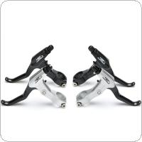 ROBESBON 1 Pair Black Silver Mountian Bike Aluminum Alloy V-brake Disc Brake Bicycle Front And Rear Calipers Brake Levers