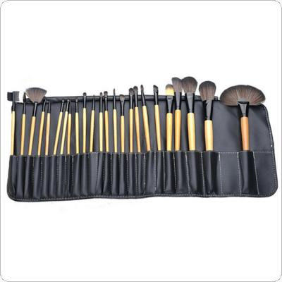 Pro 24PCS Makeup Brushes Cosmetic Tool Kits Eyeshadow Powder Brush Set Case
