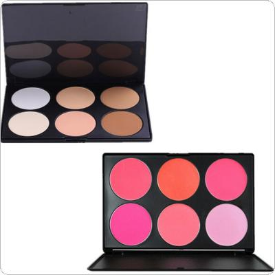 Professional 6 Color Pressed Powder Palette Nude Makeup Contour Cosmetic