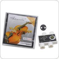 Astonvilla Violin Strings Set + Rubber Mute + Pitch Pipe G D E A 4 Notes