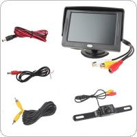 4.3 Inch 480 x 272 2-Channel Input Car Rear View Monitor + 7 IR LEDs CMOS Reverse Camera