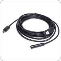 3.5M / 11.48ft 6 LEDs Waterproof 1.3 Million Pixels Camera Snake Phone Endoscope for Android