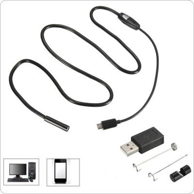 1m/3.2ft 7mm 6 LEDs Waterproof Borescope Micro USB Inspection Video Camera for Android