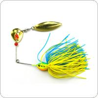 Colorful Metal Spoon Lures Buzzbait Jigs Head Silicone Skirts Snakehead Fishing Bait