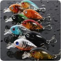 45MM 4G Simulated Fishing Lure Rock Fat Crank Plastic Mini Fishing Bait 3D Eyes Bass Carp Pike All Swimming Depth Range