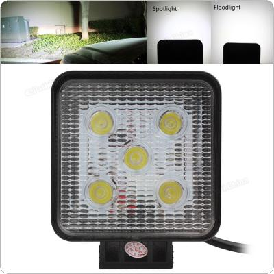 4 Inch 12V/24V 1000LM 15W Waterproof Square LED Work Light for Motorcycle / Tractor / Boat / 4WD Offroad / SUV / ATV