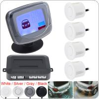 Waterproof 4 x Beep Alert Rear View Car Parking Sensors with Display Monitor & Dual CPU System