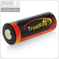 TrustFire 3.7V 26650 High Capacity 5000mAh Li-ion Rechargeable Battery with Protected PCB for LED Flashlights / Headlamps