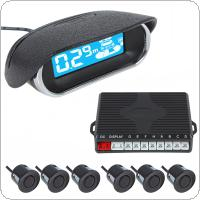 Front & Rear Obstacle Distance Dual View Digital Display Car Parking System with 6 Ultrasonic Sensors