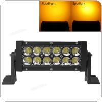 7 Inch 12V/24V 2520LM 36W Multifunction Stroboflash Double Stack LED Light Bar for Truck / Trailer / OffRoad / Car / Motorcycle