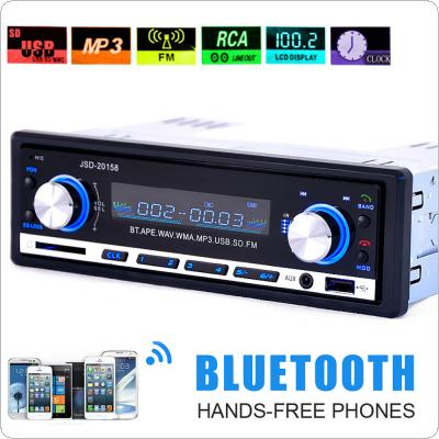 Bluetooth 1 DIN In-Dash Car Stereo Audio  FM Radio Aux Input Receiver SD USB MP3 Player
