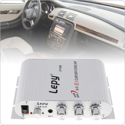 12V 2CH Mini Hi-Fi Amplifier Booster Radio MP3 Stereo for Car Motorcycle Home