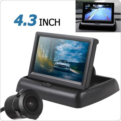 4.3 Inch 480 x 272 Resolution 2-channel Input Car Rear View Monitor + 420 TVL 18mm Lens Reverse Camera