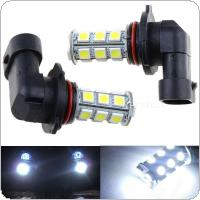 2Pcs 12V HB3 9005 18SMD 5050 LED White LED Car DRL Fog Driving HeadLight Bulb Lamp
