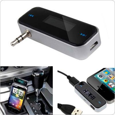 Wireless Music to Car Radio FM Transmitter for 3.5mm MP3 for iPod Phones Tablets