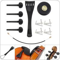 11 In 1 Set Universal Cello Accessories Kits Units Professional Ebony Material Violoncello Parts Assembly Component