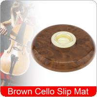 1 piece Lip Pad Cello Instrument Accessories with Metal Eye Brown Cello Slip Mat Pin Stopper