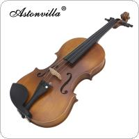 Astonvilla Handmade 4 / 4 Reaationary Vintage Violin Exquisite Sub-gloss Varnish Stylish Retro Old-fashioned Fiddle Spruce Panel