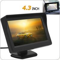 4.3 Inch 480 x 272 TFT LCD Digital Panel Car Rear View Monitor Support 2-Channel Video Input