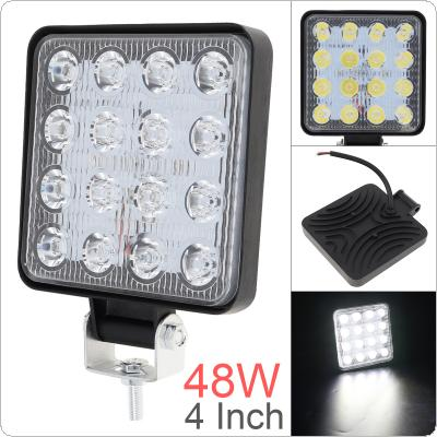 4 Inch 12V/24V 3200LM 48W Waterproof Square LED Work Light for Motorcycle / Tractor / Boat / 4WD Offroad / SUV / ATV