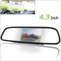 4.3 Inch 480 x 272 Color Digital TFT LCD Screen Car Rear View Monitor with 2 Video Input