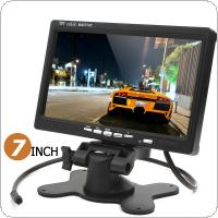 HD 800 x 480 7 Inch Color LCD Screen Car Rear View Monitor with HDMI + VGA Interface