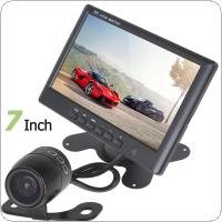 HD 800 x 480 Super Thin 7 Inch Color TFT LCD 2 Channels Video Input Car Rear View Monitor + E306 18mm Color CMOS / CCD Car Camera