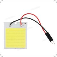 48SMD COB White Light LED Car Reading Lamp Interior Panel Lamp with T10 Festoon Dome Adapter
