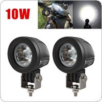 2pcs 10W Mini Tail Auto Led Offroad Lights Fog Lamp for Car / Motorcycle / Boat / ATV