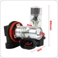 2X Super White 750LM H8 H11 60W 12-SMD 2323 LED Fog Lights Driving Bulbs