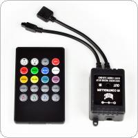 20 Key Music IR Remote Controller Sensor For 3528 5050 RGB LED Strip