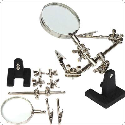 Standing Style Auxiliary clip Magnifier Suitable for Circuit Board Inspection and Maintenance / Carving / Welding