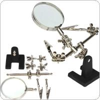 Adjustable 2-1/2in Glass Lens Standing Style Auxiliary Clip Magnifier Suitable for Circuit Board Inspection and Maintenance