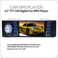 5118 4.1 Inch 50W x 4CH Bluetooth 1 DIN Car In Dash Stereo Audio FM Receiver USB MP5 Radio Player