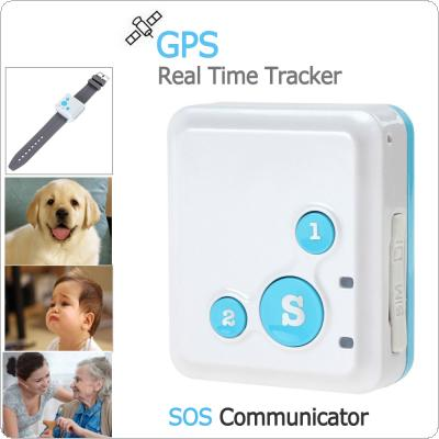 Portable V16 GPS Real-Time Tracker & SOS Communicator with Watch Strap & Necklace Style Lanyard