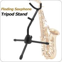 Lightweight Tubular Construction Folding Saxophone Stand Alto Sax Rack