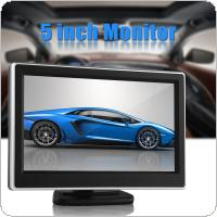 5 Inch 480 x 272 Pixel TFT LCD Digital Panel Color Car Rear View Monitor with 2 Video Input